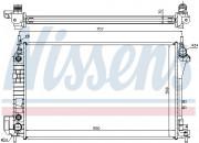 Радиатор охлаждения двигателя NISSENS 63023