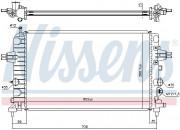Радиатор охлаждения двигателя NISSENS 63028A