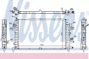 Радиатор охлаждения двигателя NISSENS 63029A