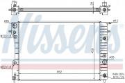 Радиатор охлаждения двигателя NISSENS 63072A