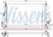 Радиатор охлаждения двигателя NISSENS 630789