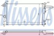 Радиатор охлаждения двигателя NISSENS 632231
