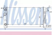 Радиатор охлаждения двигателя NISSENS 63284