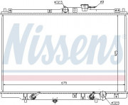 Радиатор охлаждения двигателя NISSENS 63346