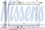 Радиатор охлаждения двигателя NISSENS 63744A