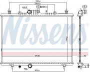 Радиатор охлаждения двигателя NISSENS 637645