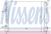 Радиатор охлаждения двигателя NISSENS 638081