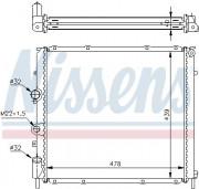 Радиатор охлаждения двигателя NISSENS 63854A