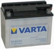 Аккумуляторная батарея Varta 512012012 (YB12B-B2) 12 А/Ч (Левый +)