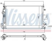 Радиатор охлаждения двигателя NISSENS 640302