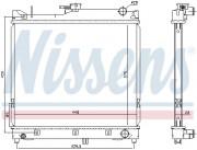 Радиатор охлаждения двигателя NISSENS 64162