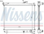 Радиатор охлаждения двигателя NISSENS 64165