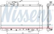 Радиатор охлаждения двигателя NISSENS 64205