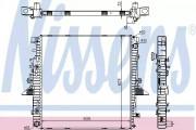 Радиатор охлаждения двигателя NISSENS 64320A