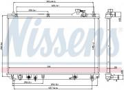 Радиатор охлаждения двигателя NISSENS 64659