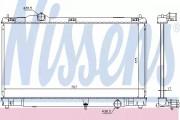 Радиатор охлаждения двигателя NISSENS 64672