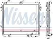 Радиатор охлаждения двигателя NISSENS 646827