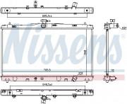 Радиатор охлаждения двигателя NISSENS 646869