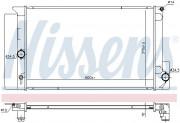 Радиатор охлаждения двигателя NISSENS 646926