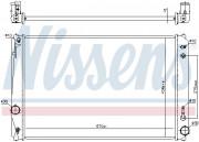 Радиатор охлаждения двигателя NISSENS 646928