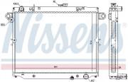 Радиатор охлаждения двигателя NISSENS 64881