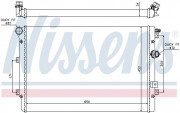 Радиатор охлаждения двигателя NISSENS 65015