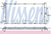 Радиатор охлаждения двигателя NISSENS 65273A