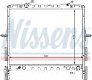 Радиатор охлаждения двигателя NISSENS 66658