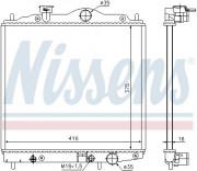 Радиатор охлаждения двигателя NISSENS 67100
