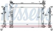Радиатор охлаждения двигателя NISSENS 67186