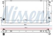Радиатор охлаждения двигателя NISSENS 67287