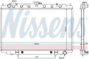 Радиатор охлаждения двигателя NISSENS 67352