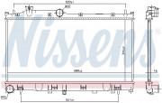 Радиатор охлаждения двигателя NISSENS 67744