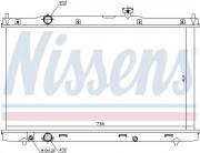 Радиатор охлаждения двигателя NISSENS 681376