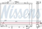 Радиатор охлаждения двигателя NISSENS 68154