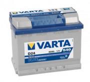 Аккумуляторная батарея VARTA D24 BLUE dynamic 560408054 60 А/Ч (Правый+)