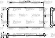 Радиатор охлаждения двигателя VALEO 732177