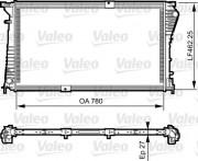 Радиатор охлаждения двигателя VALEO 734931