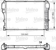 Радиатор охлаждения двигателя VALEO 735299