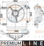 Вентилятор охлаждения радиатора HELLA 8EW 351 041-251