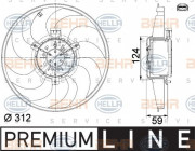 Вентилятор охлаждения радиатора HELLA 8EW 351 041-261