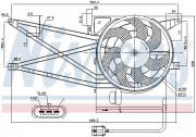 Вентилятор охлаждения радиатора NISSENS 85017