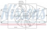 Вентилятор охлаждения радиатора NISSENS 85133
