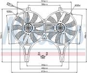 Вентилятор охлаждения радиатора NISSENS 85149