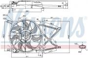 Вентилятор охлаждения радиатора NISSENS 85154