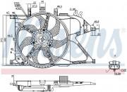 Вентилятор охлаждения радиатора NISSENS 85195