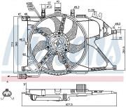 Вентилятор охлаждения радиатора NISSENS 85196