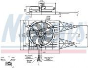 Вентилятор охлаждения радиатора NISSENS 85249