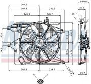Вентилятор охлаждения радиатора NISSENS 85252