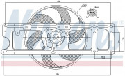 Вентилятор охлаждения радиатора NISSENS 85253
